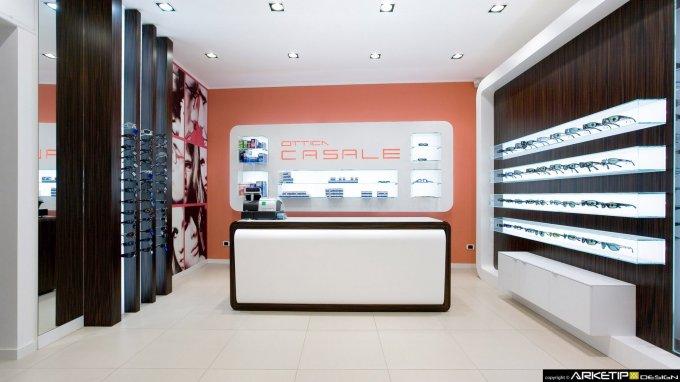 Arredamento ottica casale negozio ottica corsico for Negozi arredamento corsico