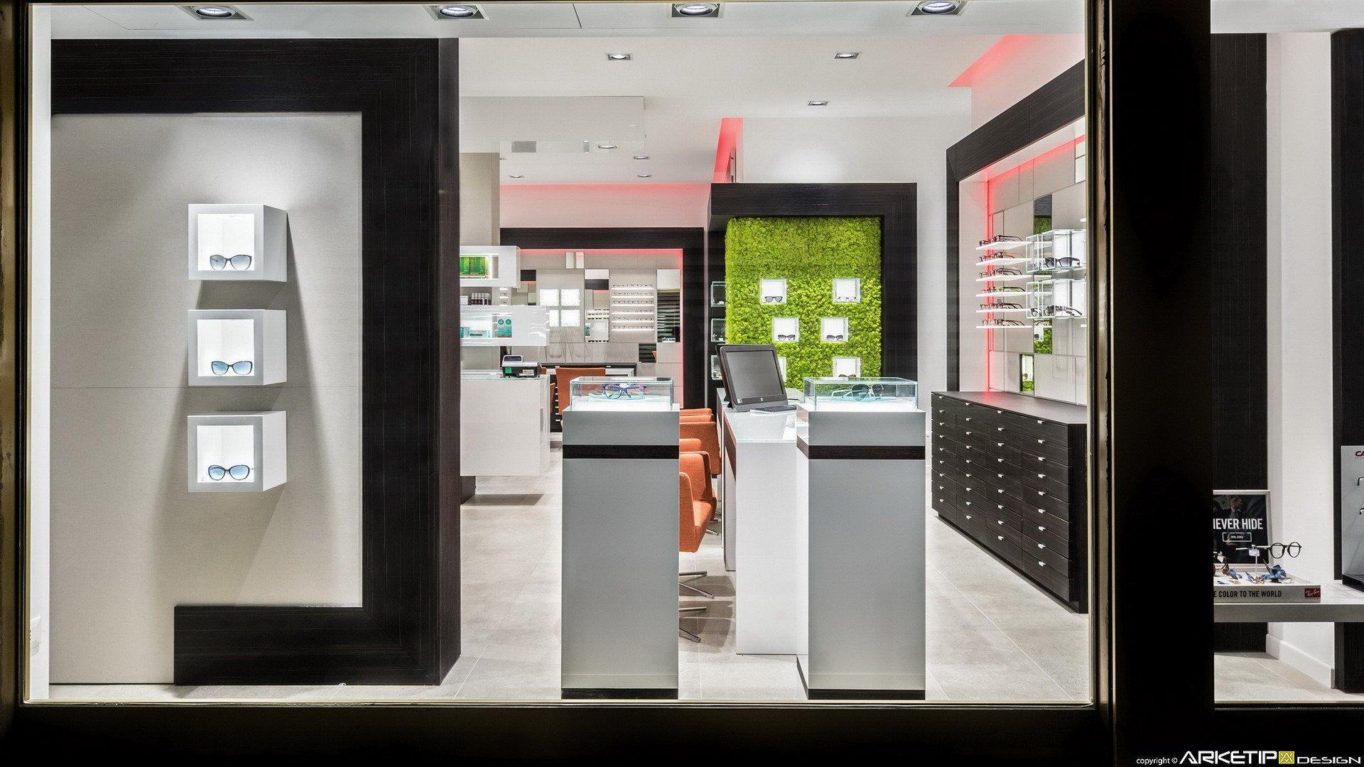 Arredamento ottica colombo negozio ottica bollate mi for Negozi design
