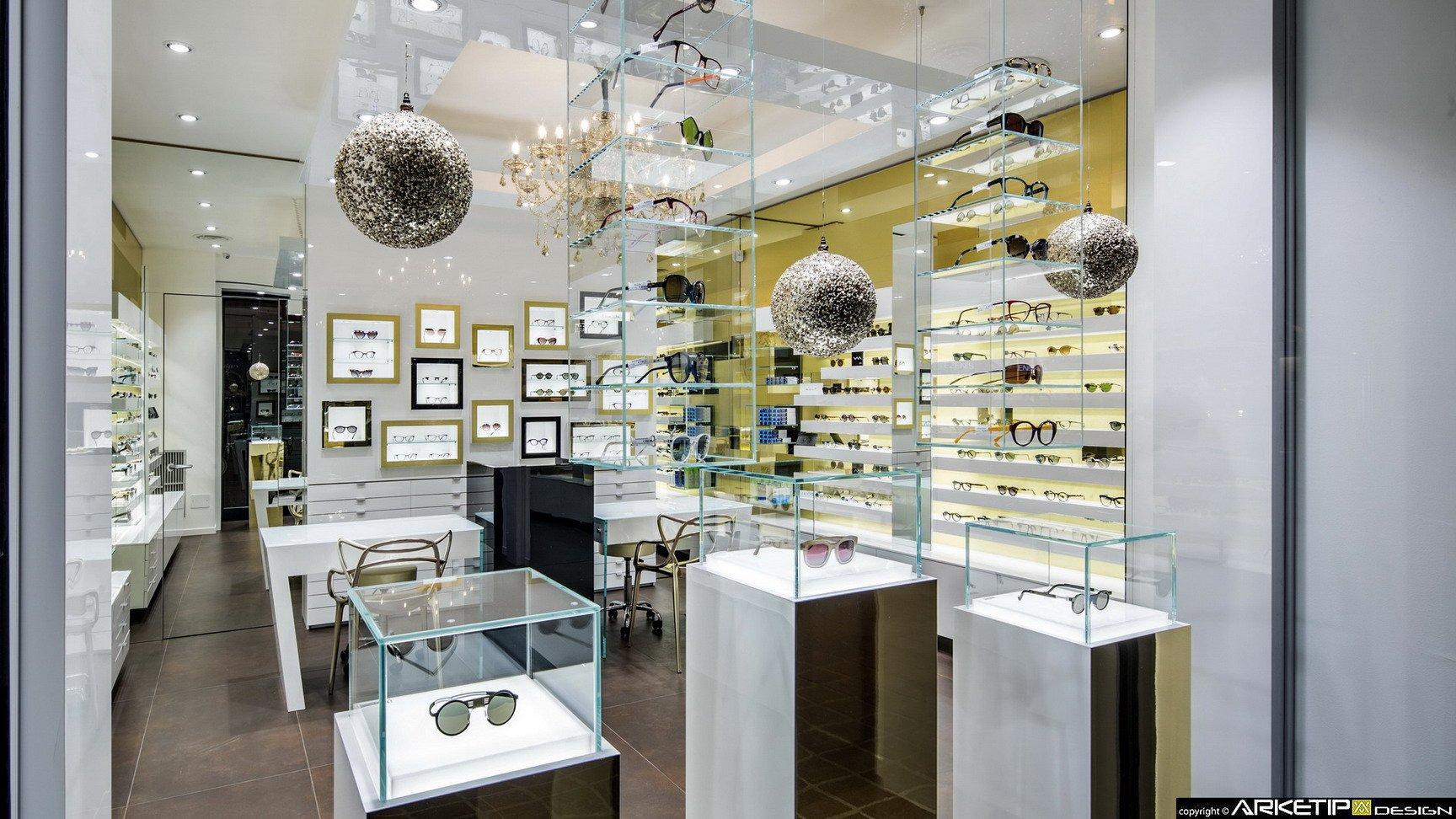 Arredamento ottica locchiale negozio ottica monza for Negozi di design