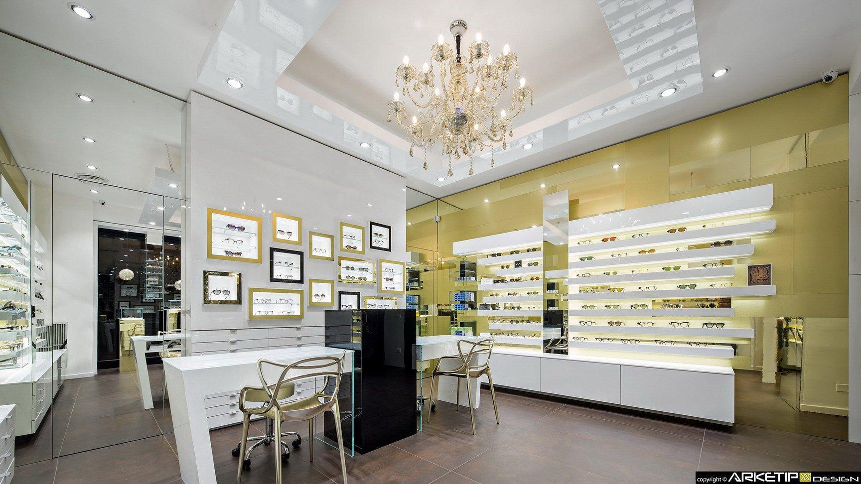 Arredamento ottica locchiale negozio ottica monza for Negozi design