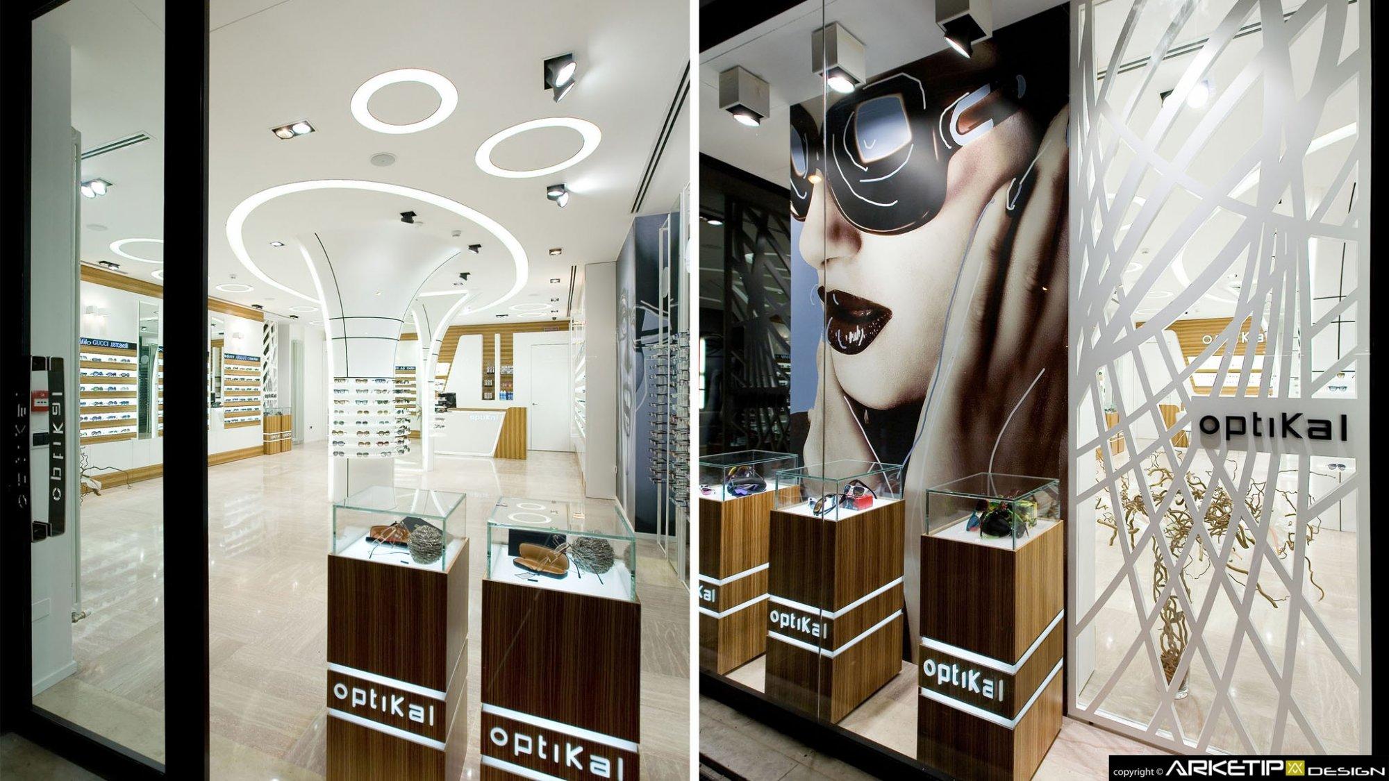 Ottica optikal arredamento negozio ottica rovigo for Outlet online arredamento design