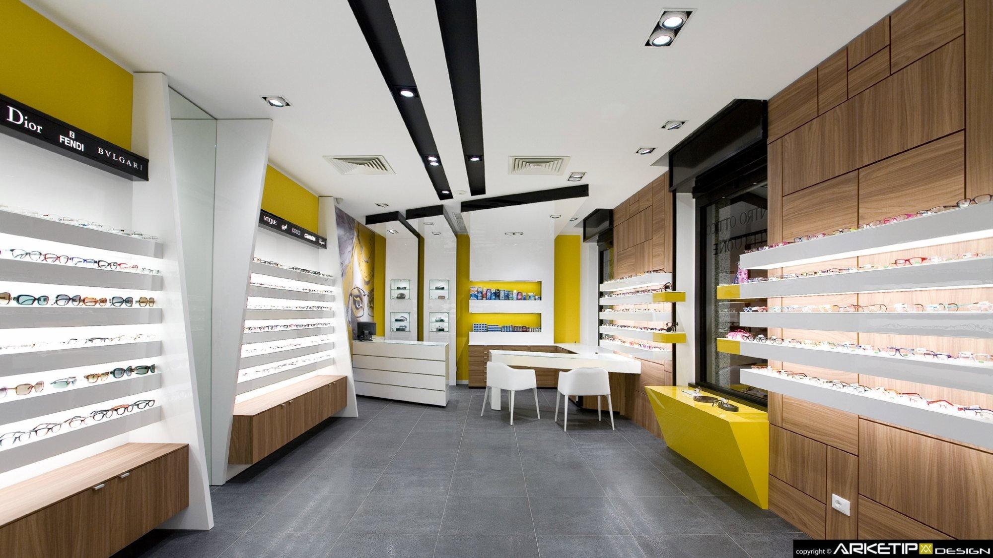 Arredamento centro ottico vittuone negozio milano for Negozi arredamento milano centro