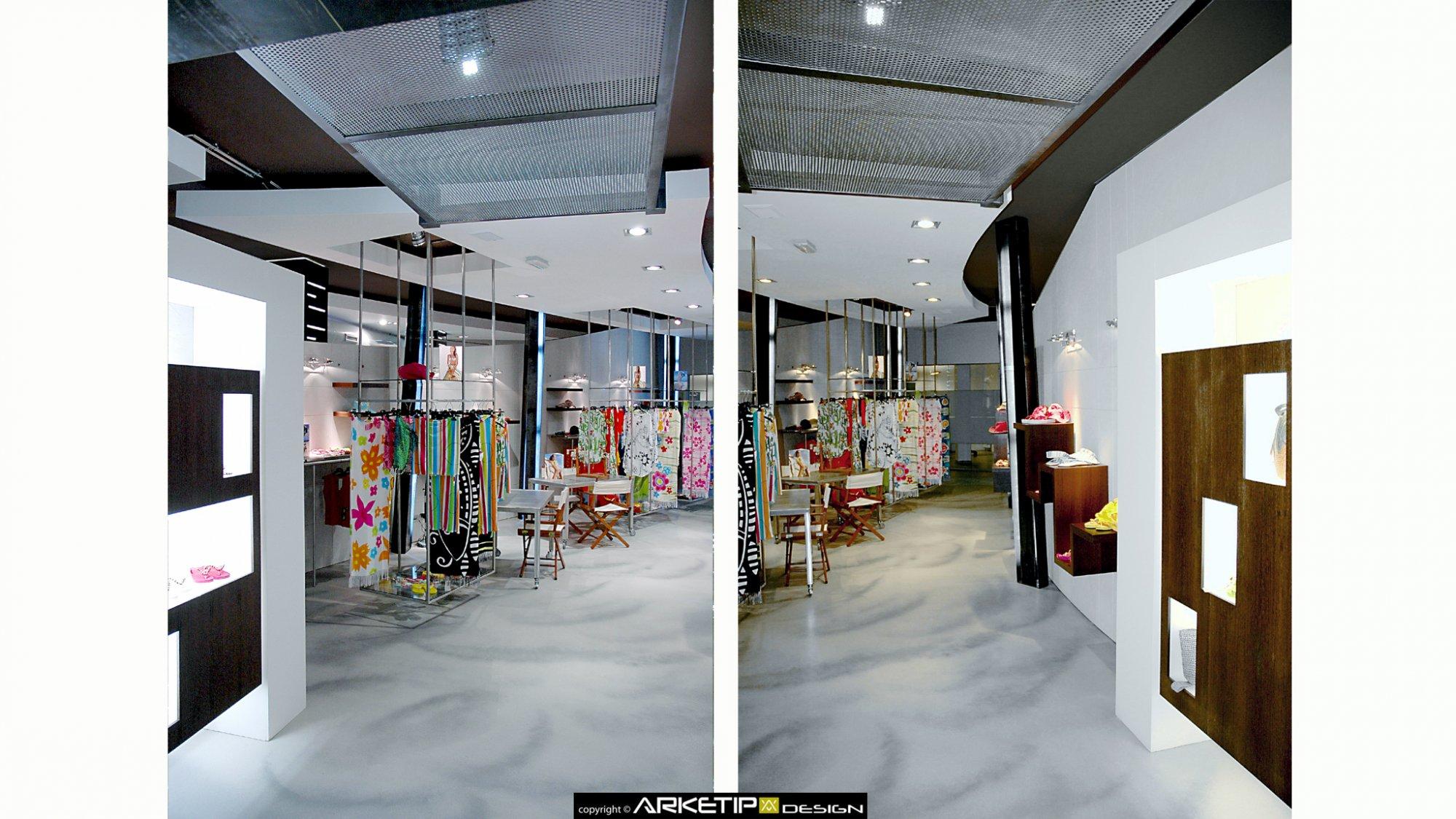 Arredamento negozio abbigliamento brekka milano for Showroom milano arredamento