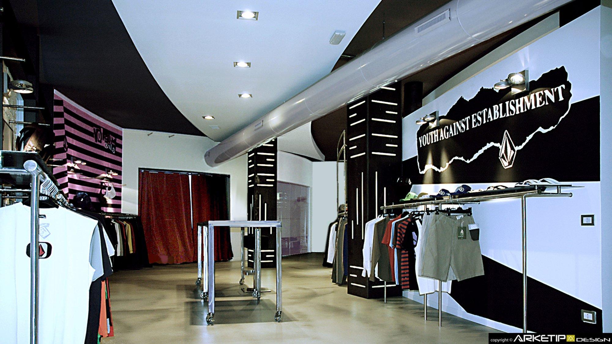 Arredamento showroom volcom store negozio milano for Showroom arredamento milano