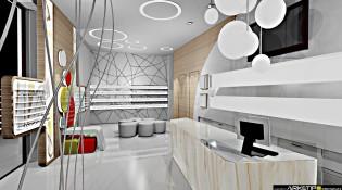 progettazione negozio Ottica Concept 1