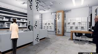 progettazione negozio Ottica Concept 3