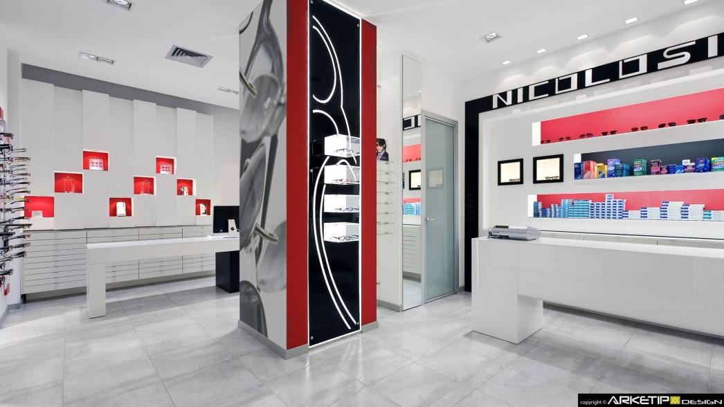 progettazione negozio OTTICA NICOLOSI