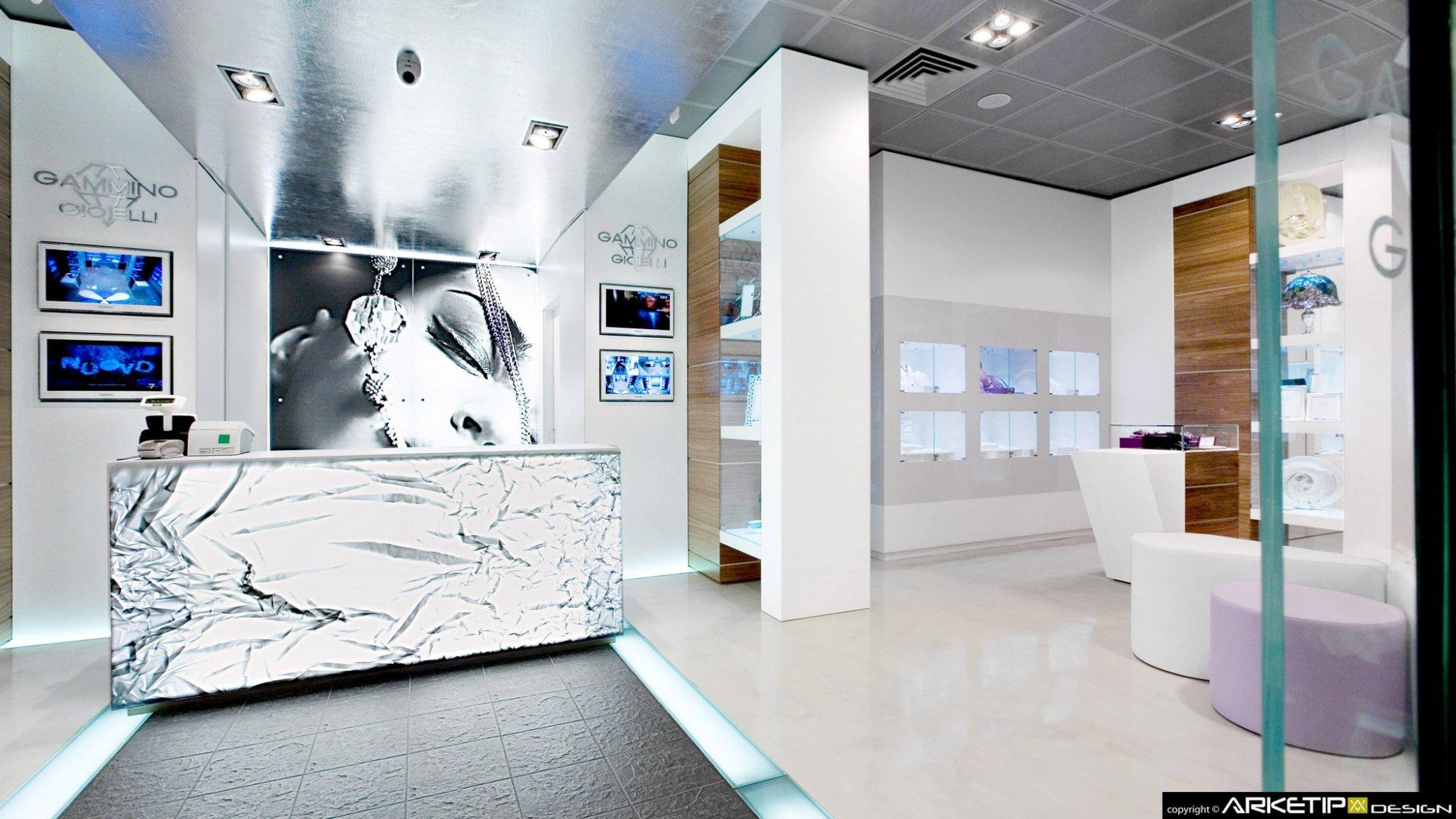 Arredamento gioielleria gammino gioielli milano for Design gioielli milano